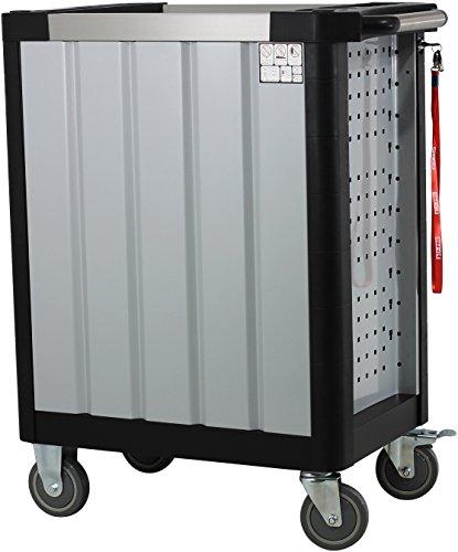 Ultra Edition Werkstattwagen | 7 Schubladen - 5 gefüllt mit Handwerkzeug | Werkzeugwagen abschließbar + COB Akku Arbeitsleuchte - 5