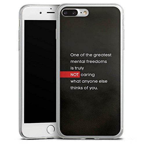 Apple iPhone 8 Plus Slim Case Silikon Hülle Schutzhülle Sprüche Statement Spruch Silikon Slim Case transparent