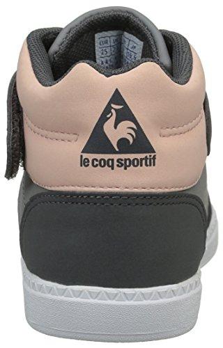 Le Coq Sportif Rebond Mid Inf S, Baskets Hautes Fille Gris (Titanium/Charcoal/Ro)