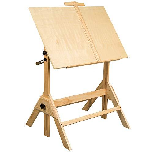 Verstellbarer Parallel Bars (MEEDEN Zeichentisch - Zeichentisch mit Verstellbarer Höhe, neigbare Tischplatte für Kunstwerk, Grafikdesign, Lesen und Schreiben, 91,4 cm)