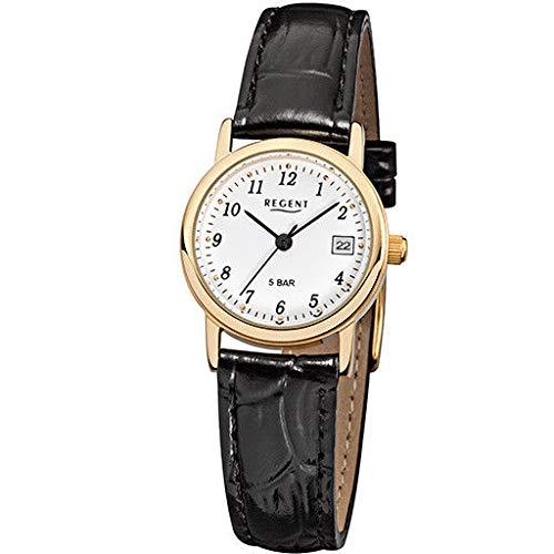 Regent Reloj de pulsera con correa de piel unisex