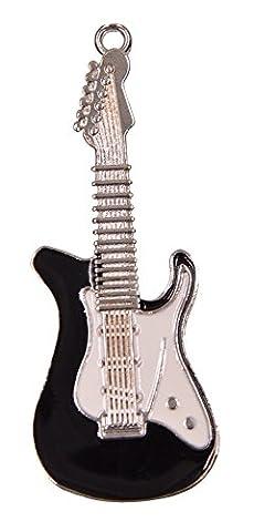 FEBNISCTE 32Go Clé USB2.0 Pen Drive - Noir Guitare Métal