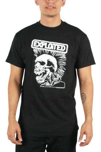 Exploited - Uomo Skull T-Shirt in Nero, Size: Small, Color: Nero