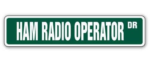 Witziges Schild Geschenk Ham Radio Operator Straßenschild Zwei Wege Radios Amateur Shack Station Geschenk Schinken Outdoor Metall Aluminium Schild, Dekoration