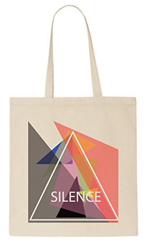 Silence Triangle Art Tote Bag