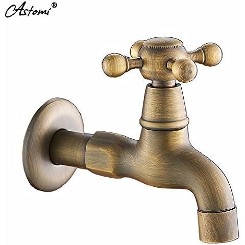 OrgsevContinental idilliaco tutti antichi Cu Mops piscina di acqua di rubinetto rapido del tubo di lancio Retro-Thick Fare clic su freddo Servizio lavanderia Piscina FittingsBathroom rubinetti