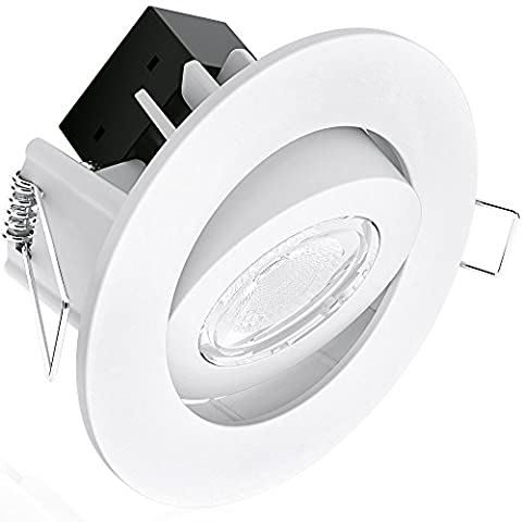 Aurora C7 Integrated LED Adjustable Dimmable 7W Downlight - Cool