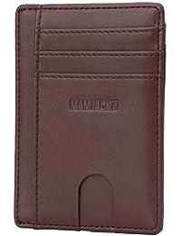 MAMJACK® - Cartera para tarjetas de crédito, para bolsillos, pantalones o chaquetas, unisex, con bloqueo RFID