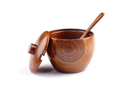 VARANDA - Zuccheriera con cucchiaio in legno di giuggiolo
