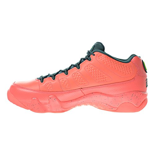Nike Air Jordan 9 Retro Low, Scarpe da Basket Uomo bright mango/hasta-ghost green