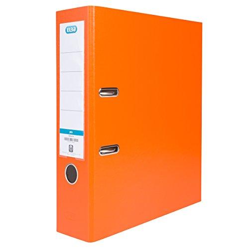 ELBA Ordner smart Pro 10er Pack 8 cm breit DIN A4 orange mit Einsteckrückenschild Ringordner Aktenordner Briefordner Büroordner Plastikordner Schlitzordner