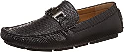 CL By Carlton London Mens Reychel Black Loafers and Moccasins - 7 UK/India (41 EU)