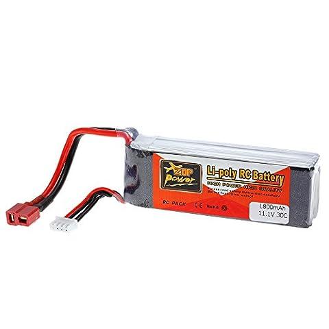 Goolsky Zop Power 3 s 11.1 v 1800mAh 30C t Plug LiPo Batterie pour QAV250 280 FPV Racing Quadcopter RC Voiture Batterie