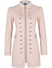 5874931d02f6 4tuality Military Coat Damen lang Blazer Slim Fit
