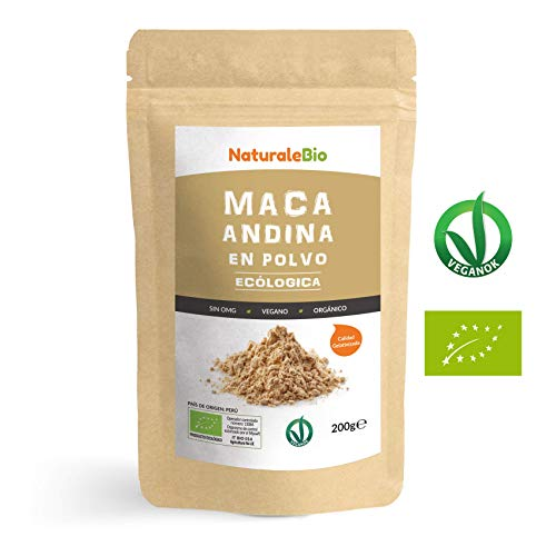 Maca Andina Ecológica en Polvo [ Gelatinizada ] 200g. Organic Maca Powder Gelatinized. 100{21748dd2e1c14090d45a124fd2a63644d0a76cb5bf4af562d862893facb1c05b} Peruana, Bio y Pura, viene de raíz de Maca Organica. Superfood rico en aminoácidos, fibras, vitaminas.