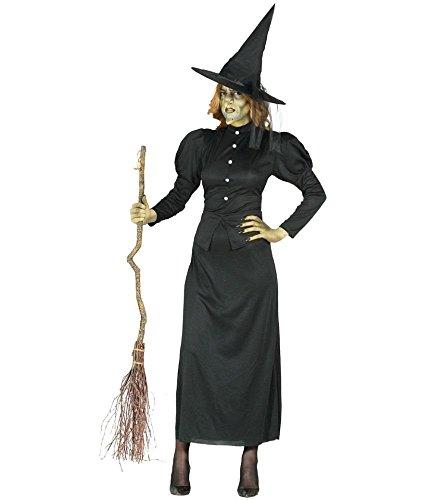 ür Damen Hexen Kleid schwarz Halloween Hexenkostüm Gr. M - L, Größe:L (Scary Witch Halloween Kostüme)