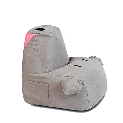 QXX Schwein-Form-kleine Faule Couch mehrfarbiges Starkes Kissen-Schlafzimmer-Wohnzimmer-Balkon-Tatami-Gewebe-einzelner Stuhl 55 × 65cm (Farbe : Gray, größe : A) (Wohnzimmer-gewebe-stühle)