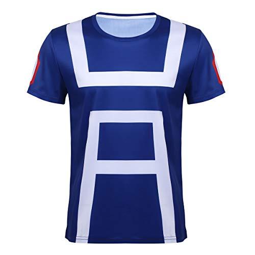 830e0cf25 inlzdz Camiseta My Hero Academia para Hombre T-Shirt Estampado Digital  Cosplay Horoe Anime Japonesa Top Verano Disfraz de Fiesta Evento Ropa  Deportivo ...