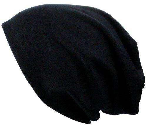 Alex Flittner Designs Jersey Beanie + Foulard multifonction Echarpe deux en un | Couleurs: noir, gris, vert, rot, marron, chiné