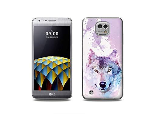 etuo Handyhülle für LG X Cam - Hülle, Silikon, Gummi Schutzhülle - Traumwolf