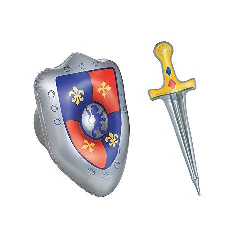 und Schild (Kunststoff-mittelalterliche Schwerter)