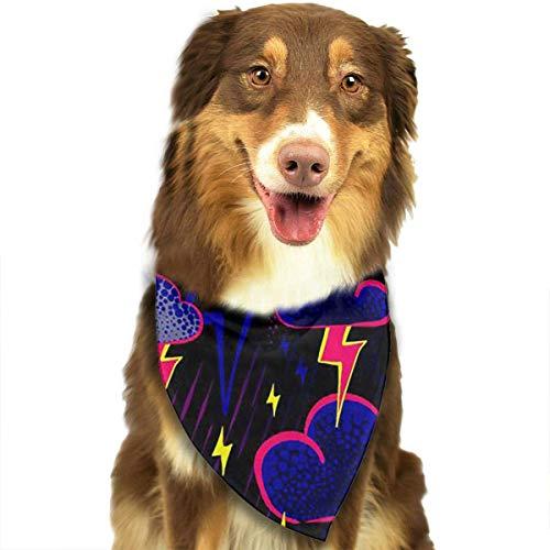 Osmykqe Dog Bandanas Thunder Storm Day Adjustable Dog Collar Cat Scarf Puppy Bandans Pet Accessories -