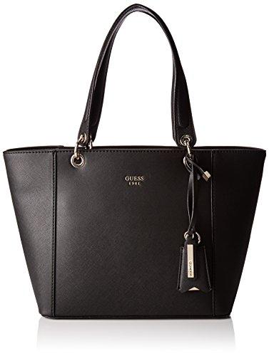 Guess Shopper Kamryn, Borsa a Spalla Donna, 15x26.5x42 cm (W x H x L) Nero