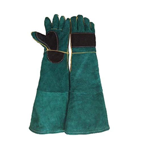 Guanti di sicurezza Sicherheitshandschuhe verdickt für Masken und Femminen Behandlung Krallenklemmen Schutzhandschuhe Arbeitshandschuhe (grün, schwarz) grün -