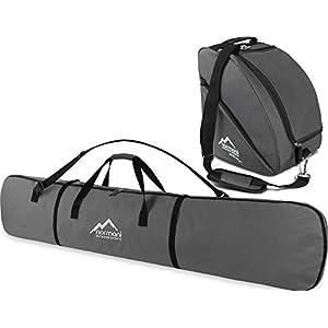 normani Ski-Set bestehend aus Snowboardtasche Alpine Run 166″ und passende Zubehörtasche Hilltop DEPO für Helm, Schuhe, Handschuhe und weiteres Equipment