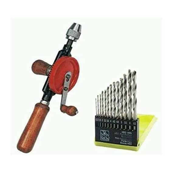 Digital Craft Combo of 2 in 1 Hand Drill Machine with 13 Pcs Drill Bits Set