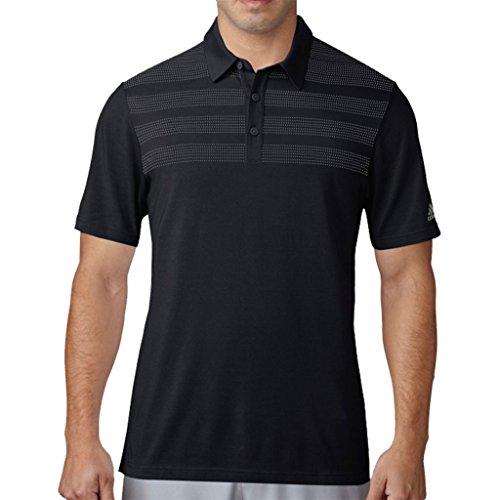 Adidas 2017 Men's Golf 3 Stripes Mapped Performance Polo Black XXL