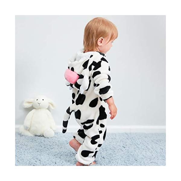 Pijama para Bebé Niña Niño Franela Bolsa Saco de Dormir de Mangas Largas Espesar Mameluco con Capucha Peleles algodón… 5