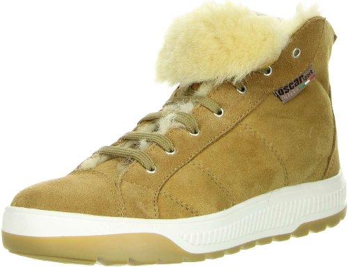 OSCAR Sport Damen High-Cut Sneaker Echtfell beige, Größe:40, Farbe:Beige
