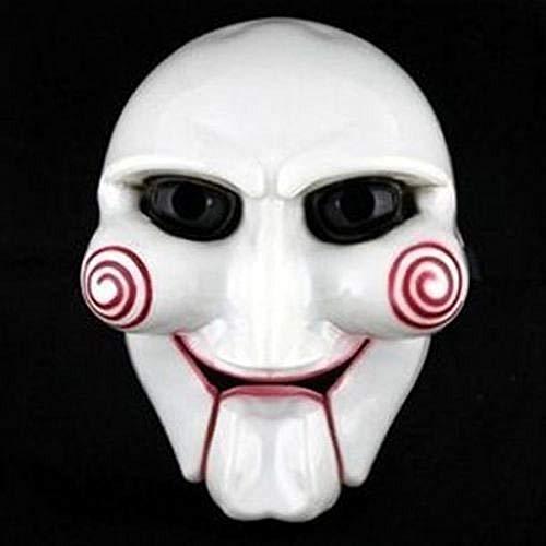 HEOWE Modische Halloween-Party Cosplay Billy Jigsaw Saw Puppet Mask Maskerade Kostüm Requisiten Erhöhen Sie die Festliche Atmosphäre @ - Jigsaw Saw Kostüm