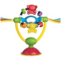 Playgro Rotating rattle with suction foot, For tables and high chairs, BPA-free, From 6 Months, High Chair Spinning Toy, Yellow/Red, 40121