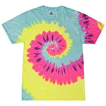 Colortone - Unisex Batik T-Shirt 'Swirl' / Blast, S