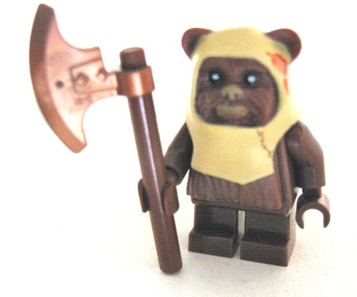 LEGO Star Wars - Minifigur Ewok Paploo mit Streitaxt - Axt - Waffen (Ewok Minifiguren Lego)