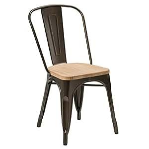 Crack Couleur cuivre Aldgate chaise finition Par revêtement en poudre solide en matériau & siège