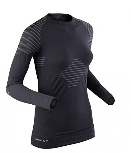X-Bionic Invent T-Shirt manches longues Femme Noir/Anthracite FR : S (Taille Fabricant : S)