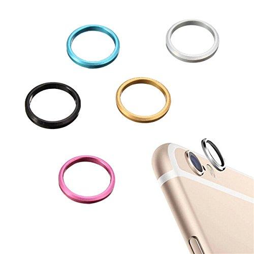 Cercle Anneau arrire Verre CamŽra MŽtal Objectif Protecteur Hoop Case Anneau Cover Pour iPhone 6S plus de 5,5 pouces bleu