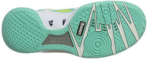 Kempa Wing Lite Women, Chaussures de Handball Femme Turquoise (Turquoise/Jaune Spring)