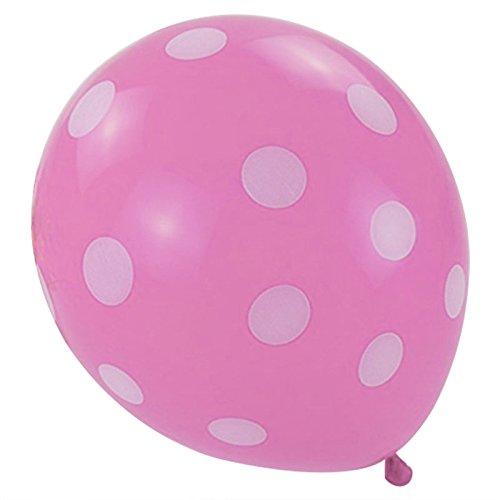 -Polka Dot Luftballons Klassisches Spielzeug Kinder Party Dekoration Und Geburtstag Hochzeit Dekoration Ballon Partei Liefert (Rosa ) ()
