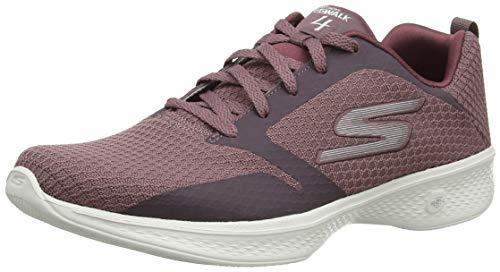 Skechers Damen Go Walk 4 Low-Top Sneaker, Violett (Mauve Mve), 36 EU