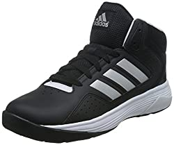 adidas neo Mens Cloudfoam Ilation Mid Cblack, Msilve and Ftwwht Leather Basketball Shoes - 9 UK/India (43.3 EU)