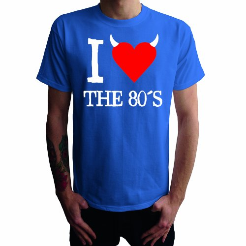 I don't love the 80's Herren T-Shirt, blau, L