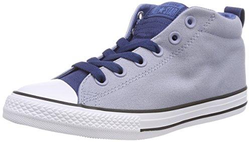 Converse Unisex-Kinder CTAS Street MID Glacier Grey/Navy/White Hohe Sneaker, Blau, 36 EU - Mädchen Sneakers Mid