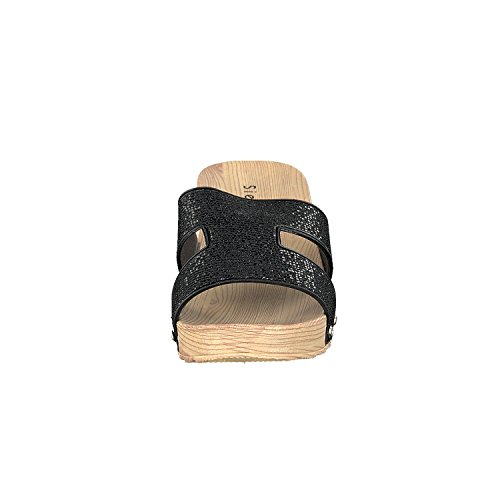 Siebi's COMO Tongs de piscine Chaussures de plage Mules Femmes Noir