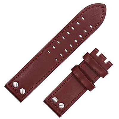Nuevo 22mm Correa de cuero reloj banda hebilla costuras Piloto Compatible para Hamilton