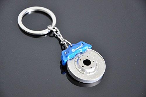 Blau und Silber-Bremssättel stilvolle Schlüsselbund Schlüsselbund in Geschenkbox
