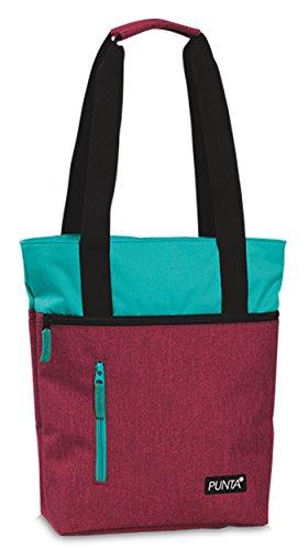 Tasche Shopper Tragetasche Umhängetasche auch Zusatztasche für Punta-Einkaufstrolley Melange Farben Bromberre mit Türkis